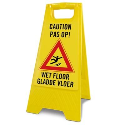 A-bord klein caution / pas op natte vloer / wet floor