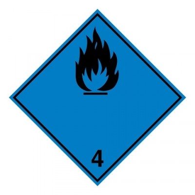 ADR 4.3A - Brandbare vaste stoffen