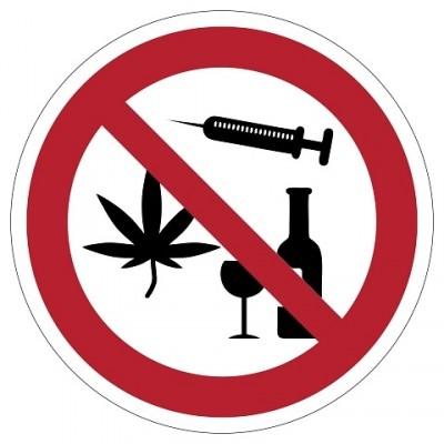 Alcohol en drugs verboden