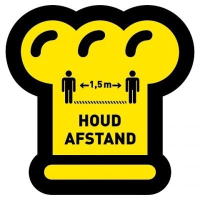 Houd afstand bakker + vloerlaminaat (antislip)