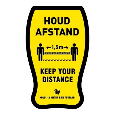 Houd afstand bierglas + vloerlaminaat (antislip)