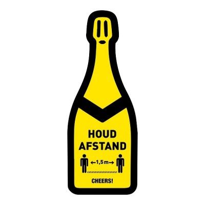Houd afstand champagne