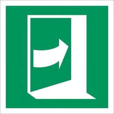E023 Duw rechts om deur te openen