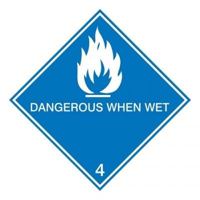 IMDG 4C - Gevaar bij contact met water