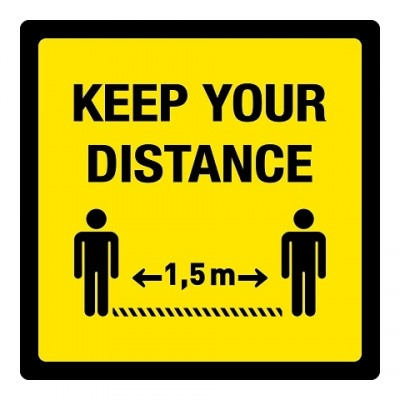 Keep your distance + vloerlaminaat (antislip)