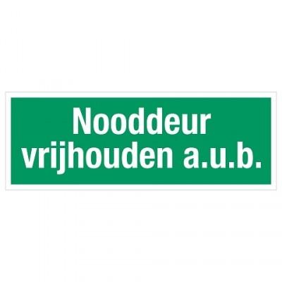 321 Nooddeur vrijlhouden a.u.b.