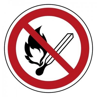 P003 Vuur, open vlam en roken verboden