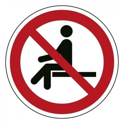 P018 Verboden te zitten