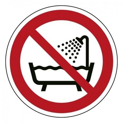 P026 Verboden om onder de douche - bad te gebruiken