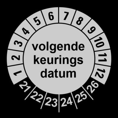 926 Volgende keuringsdatum zilver