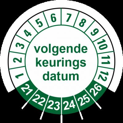 923 Volgende keuringsdatum groen
