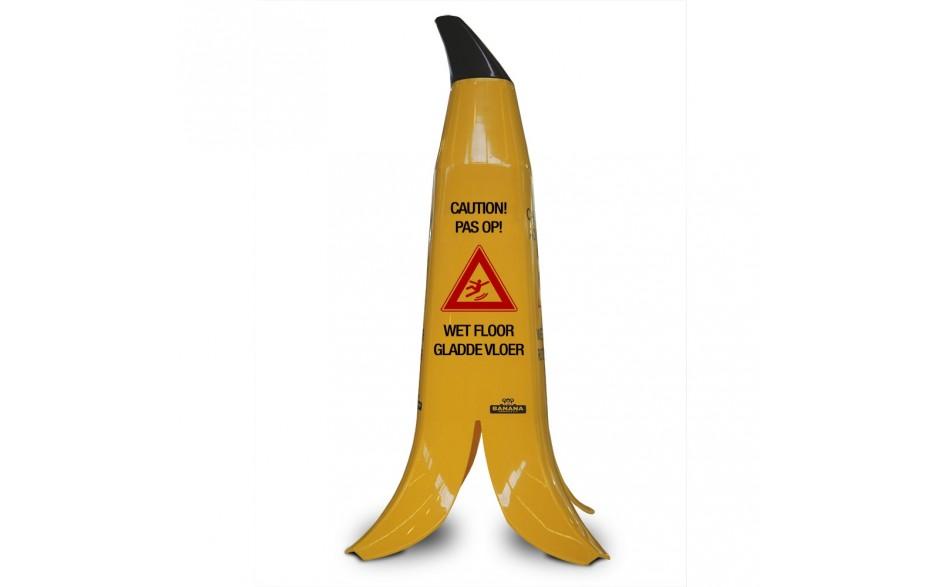 Waarschuwing Bananenschil gladde vloer