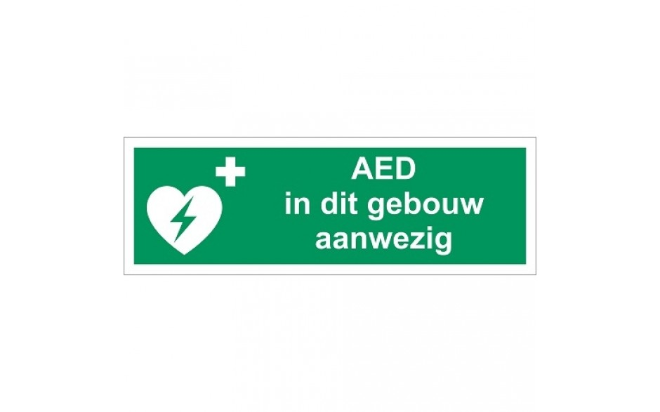 EO91 AED in dit gebouw aanwezig