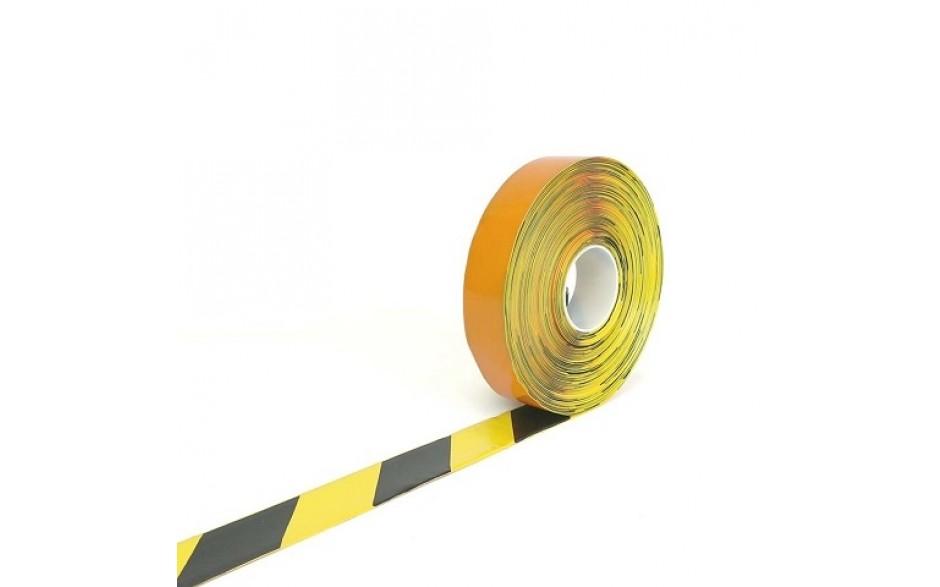 Picto-Stripe 50 mm GEEL / ZWART (rol 30 meter)