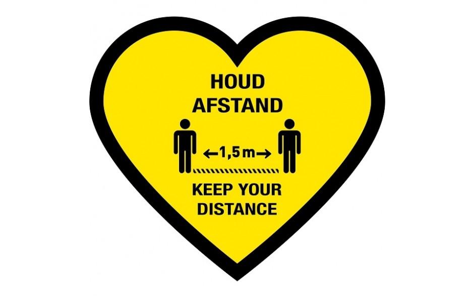 Houd afstand hart