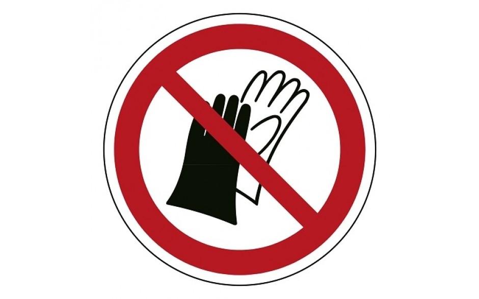 P028 Handschoenen verboden