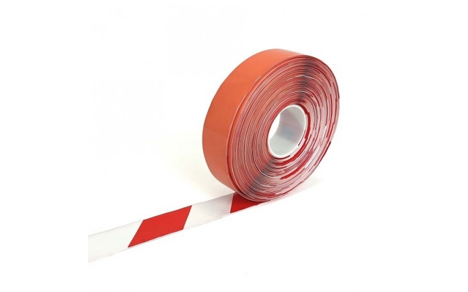 Picto-Stripe 50 mm ROOD / WIT  (rol 30 meter)