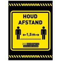 Houd afstand - Samen + vloerlaminaat (antislip)