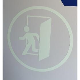 Nalichtende vloer- en deursticker Nooduitgang