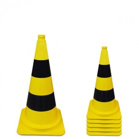 Afzetkegel 50 cm geel / zwart pvc 1.25 kg