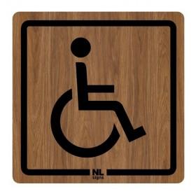 WC bord mindervaliden HOUTLOOK zelfklevend
