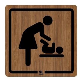 WC bord baby - verzorgingsruimte HOUTLOOK zelfklevend