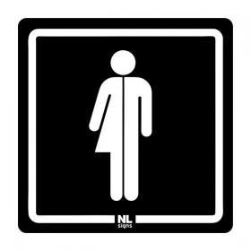 WC bord genderneutraal NALICHTEND (blauw) zelfklevend