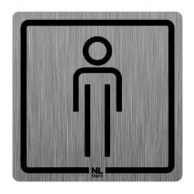 WC bord man RVS zelfklevend