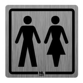 WC bord man-vrouw RVS zelfklevend