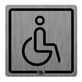 WC bord mindervaliden RVS zelfklevend