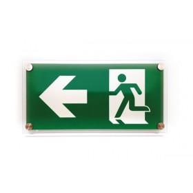 Vluchtweg links design GLAS
