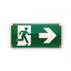 Vluchtweg rechts design GLAS