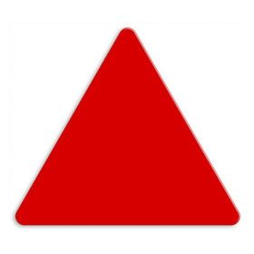 DOR bord ROOD driehoek