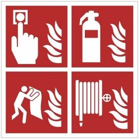FO29 Brandmelder - brandblusser - blusdeken - brandslang