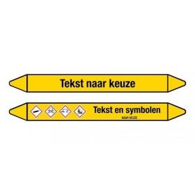Leidingmerkers tekst / kleur / symbool naar keuze