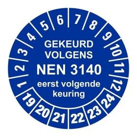 NEN3140 blauw