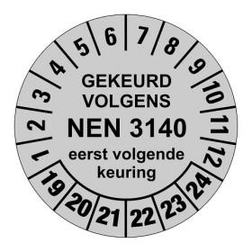 928 NEN3140 zilver