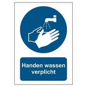 TM011 Handen wassen verplicht