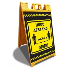 A-bord Signicade HOUD AFSTAND