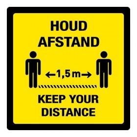 Houd afstand / Keep your distance + vloerlaminaat (antislip)