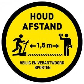Houd afstand / Keep your distance + vloerlaminaat (antislip) sporten
