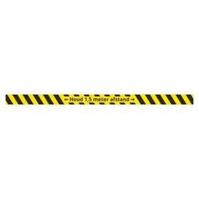 Houd afstand + vloerlaminaat (antislip)