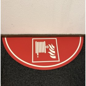 Vloermarkering brandslang 75x30 cm NALICHTEND / antislip