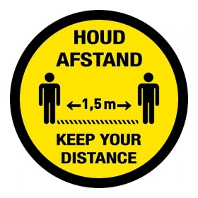 Houd afstand / Keep your distance (antislip)