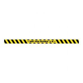 Keep your distance 1,5m + vloerlaminaat (antislip)