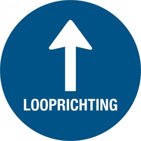 Looprichting + pijl + vloerlaminaat (antislip)