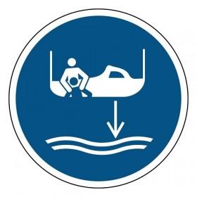 M041 Reddingsboot te water laten