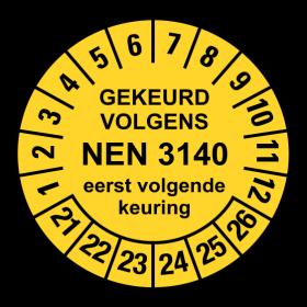 NEN3140 geel