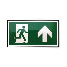Vluchtweg rechtdoor design incl. pictogram