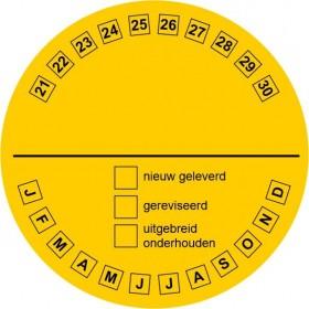 FT14 Onderhoudssticker (ook leverbaar met eigen naam / logo op aanvraag)